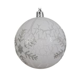Boule déco plastique flocon de neige 357539