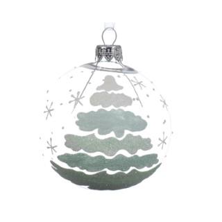Boule déco avec arbre décoloré 357546