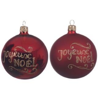 Boule déco Joyeux Noël 2 assortiments 357577