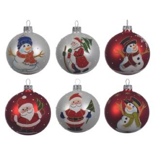 Boule déco figurine Noël (disponible en 6 modèles) 357590