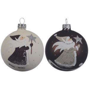 Boule déco père Noël blanche ou chocolat 357599