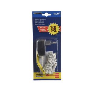 Adaptateur noir pour 3 piles AA à brancher de 4,5  V 357698