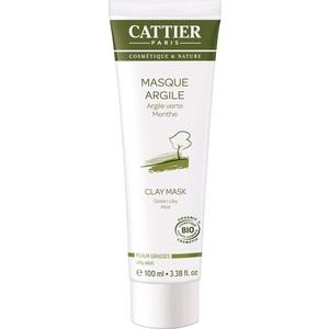 Masque à l'argile verte Cattier bio en format de 100 ml 357822