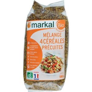 Mélange de 4 céréales précuites bio - 500 gr 358237