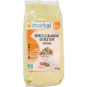 Semoule blanche grosse de blé dur bio – 500 gr 358259