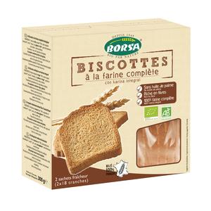 Biscottes à la farine complètes bio - 300 gr 358351