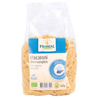 Macaronis demi complets 500 g PRIMEAL 358518