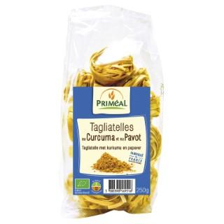 Tagliatelles curcuma pavot 250 g PRIMEAL 358849