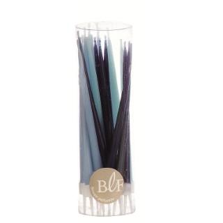 Lot de 20 bougies d'anniversaire 12 cm - Assortiment de Bleus 35967