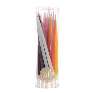 Lot de 20 bougies d'anniversaire 12 cm - Multicolore 35970