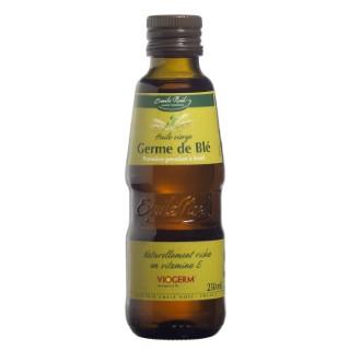 Huile vierge de germe de blé bio en bouteille de 250 ml 360010