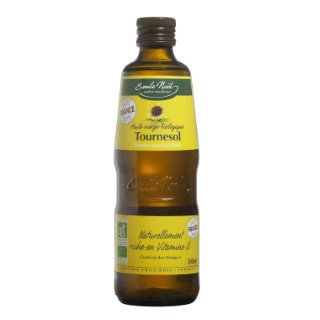 Huile vierge de tournesol bio en bouteille de 500 ml 360014