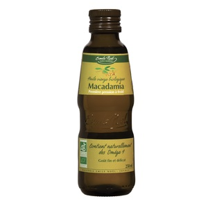 Huile vierge de macadamia bio en bouteille de 250 ml 360035