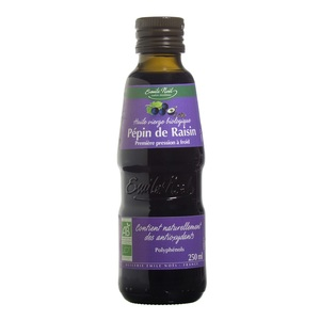 Huile vierge de pépin de raisin bio en bouteille de 250 ml 360065