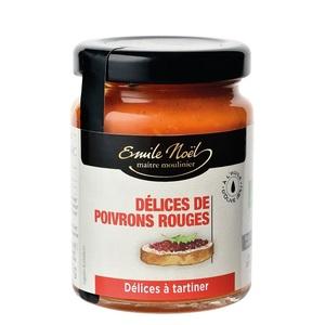 Délice de poivrons rouges bio en pot de 90 g 360073