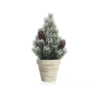 Sapin de Noël PE dans pot avec neige 30 cm 360226