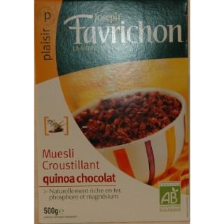 Muesli bio croustillant quinoa et chocolat - boite de 500 g 361470