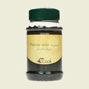 Poivre noir en grains bio dans un pot de 200 g 364183