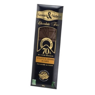 Chocolat noir au café bio en tablette de 100 g 364543