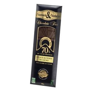 Chocolat noir aux fèves de cacao bio en tablette de 100 g 364544