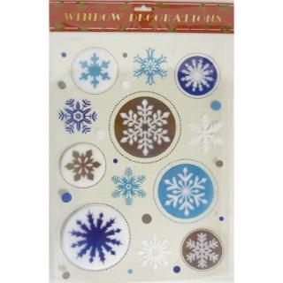 Etiquettes Flocons de neige bleus - 29,5x40 cm 366244