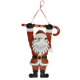 Figurine à suspendre père Noël 40 cm 366249