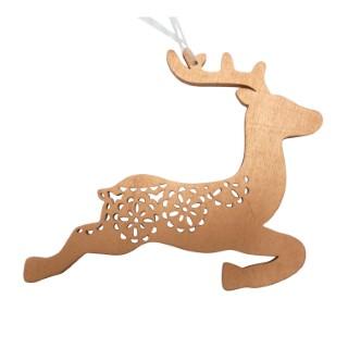 Figurine à suspendre renne cuivré 366268