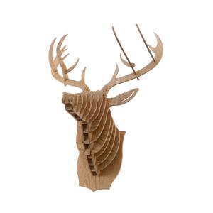 Tête de renne murale en bois 52,2x33x65 cm 366376