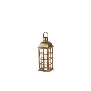 Lanterne en bois d'épicéa avec anse PM 16x16x30 cm 366595