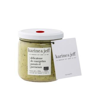 Délicatesse de courgettes panais et parmesan bio - bocal de 350 g 366793