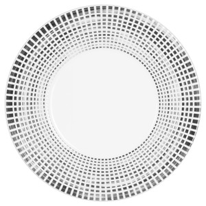 Assiette Astral blanche avec bordure à dégradé gris et noir 27 cm 366847