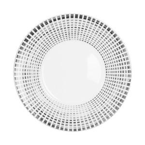 Assiette à dessert Astral avec bordure à dégradé gris et noir 23 cm 366849
