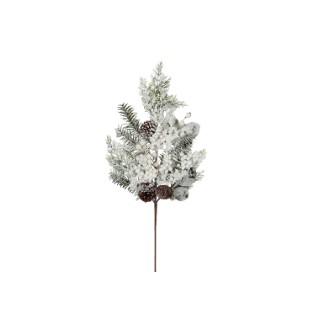 Branche Glasgow enneigée 73x18x9 cm 367048