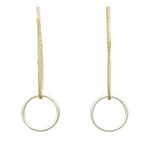Jeu d'anneaux en métal pour portique de 3 à 3,5 m 367463