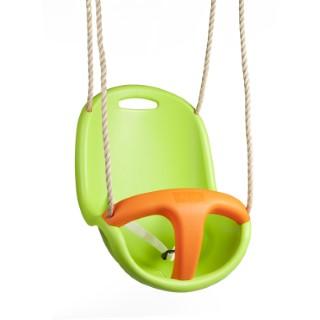 Siège de balançoire pour bébé en plastique vert et orange pour portique de 1,9 à 2,5 m 367469