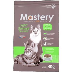 Croquettes light pour chat adulte stérilisé Mastery 3 kg 367493