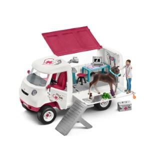 Figurine Vétérinaire mobile et poulain Série Horse club 29x16,5x23 cm 367507
