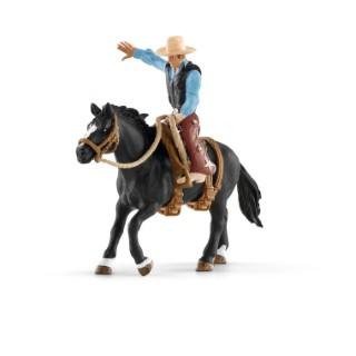 Figurine Cowboy et Selle Western Série Ferme 15x8,2x18 cm 367509