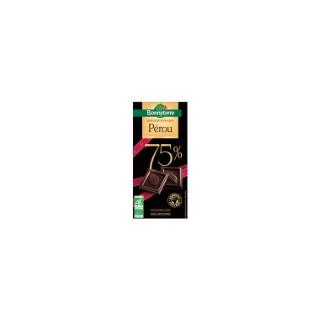 Chocolat noir sélection Pérou 75% Bonneterre bio 80 g 369218
