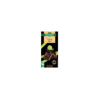 Chocolat noir et citron vert Bonneterre bio 90 g 369281