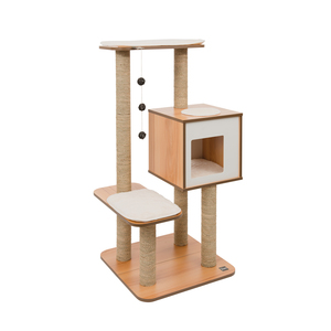 Arbre à chat Vesper High avec Base Noyer 371204