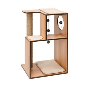 Arbre à chat Vesper Box L en bois coloris noyer 371210