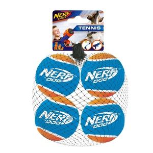 Balle de tennis bleue Nerf x 4 taille S Ø7,5 cm 371213