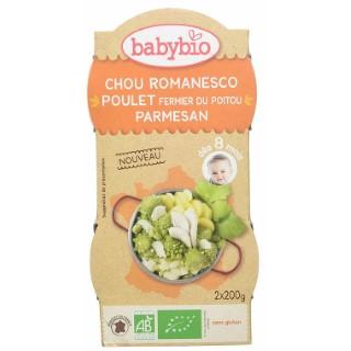 Chou romanesco et poulet fermier au parmesan Babybio 2 x 200 g 371318
