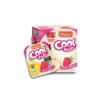 Gourde de fruits Cool bio pomme framboise 4 x 90 g 371323