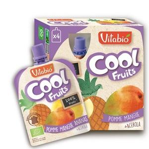 Gourde de fruits Cool bio pomme mangue et ananas 12 x 90 g 371326