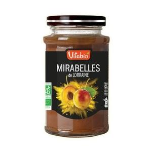 Confiture mirabelles de Lorraine Vitabio pot en verre de 290 g 371343