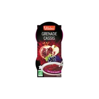 Dessert cassis fraise et grenade Vitabio en bol 2 x 120 g 371352