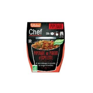Piperade au piment d'Espelette et son riz Chef Vitabio 350 g 371355