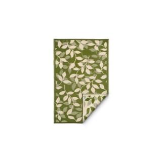 Tapis Bali vert à motifs de feuilles beiges 180x270 cm 371495